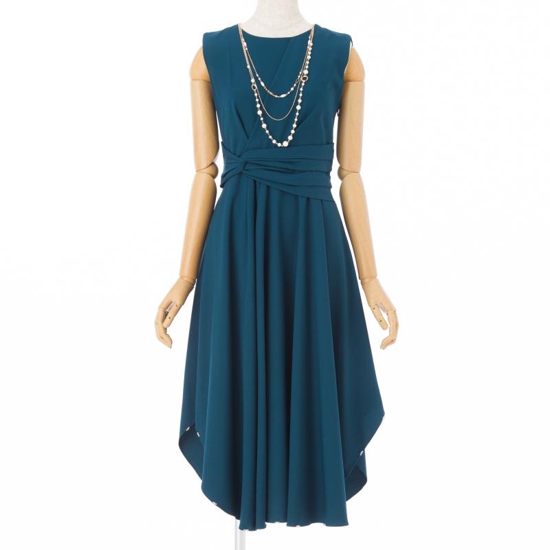 69121c48dbb22 form forma  ドレス3点SET ウエストツイスト ブルーグリーンM|結婚式 ...