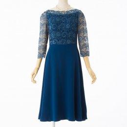 70f1589e38563 ストロベリーフィールズ グレイシーレースドレス ブルー S-M. STRAWBERRY-FIELDS ...
