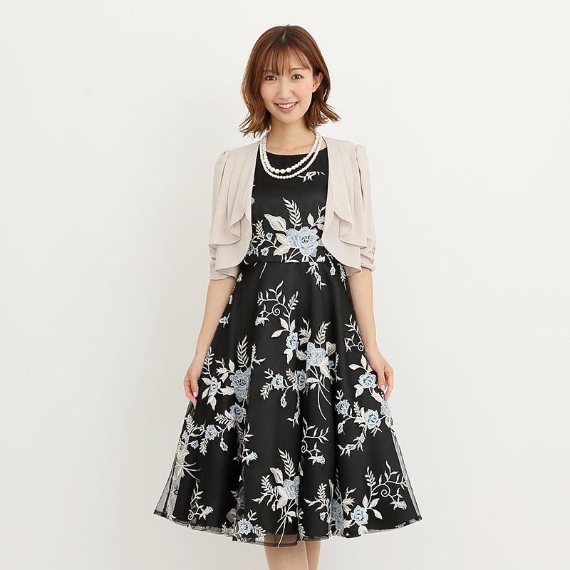 Je super【ドレス3点SET】ジュシュペール ブラック×ブルー/M