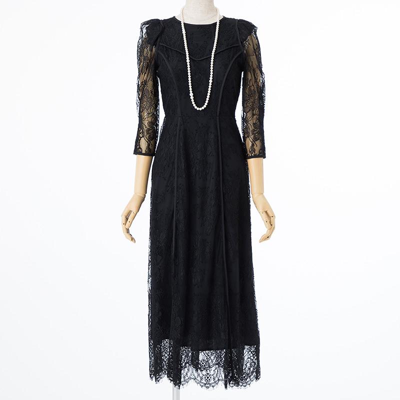 Cariru レンタルドレス SNIDEL パワショルオケレースドレス