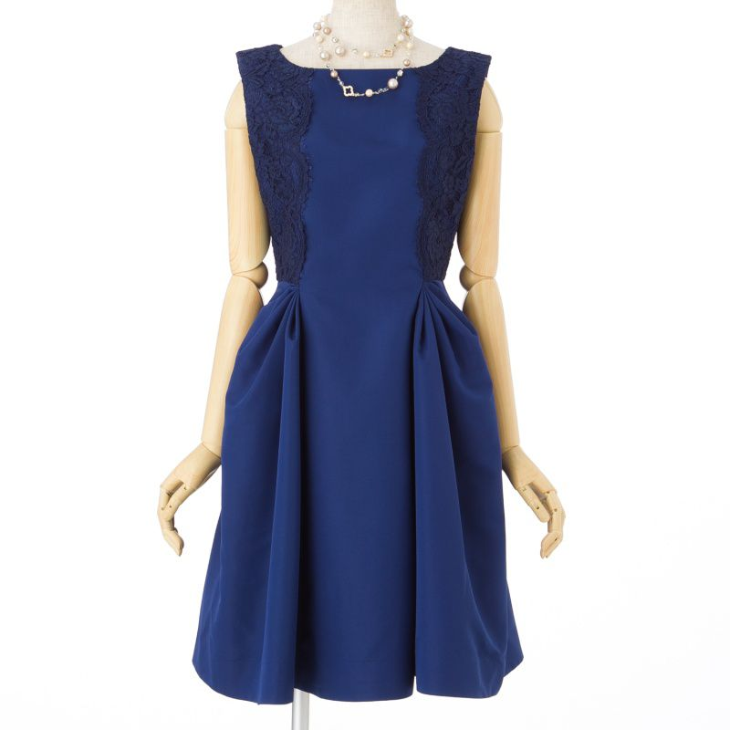 254bf64ffd6d0 STRAWBERRY-FIELDS ストロベリーフィールズ サイド刺繍タックドレス ...